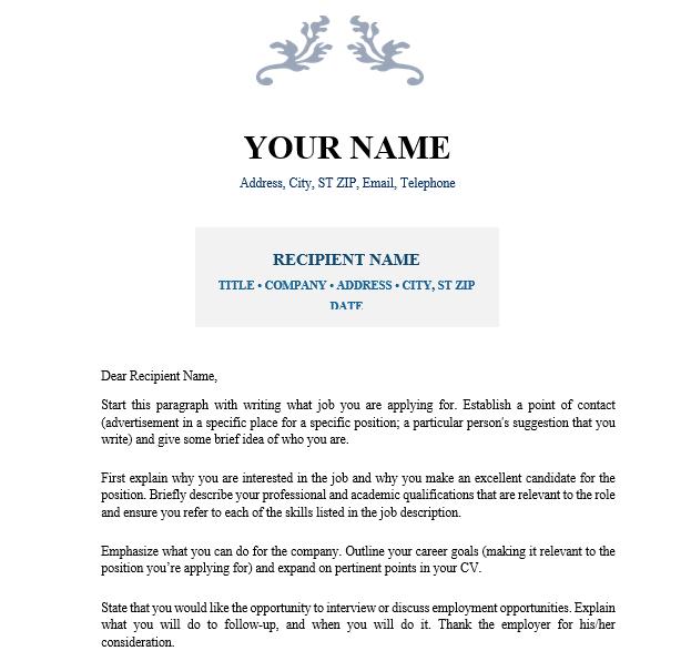 Cover Letter Industrial Designer Business Service Vepub