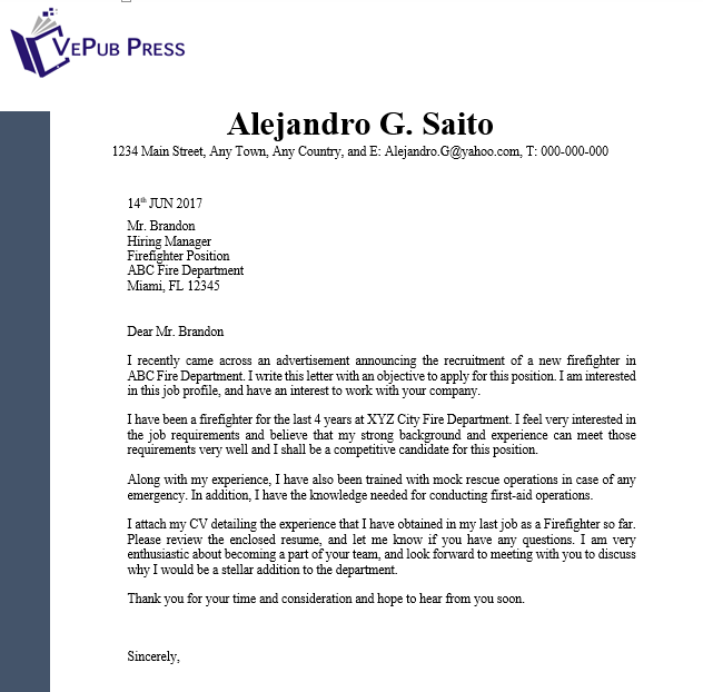 Cover-Letter,-Marine-Engineer | Business Service | Vepub