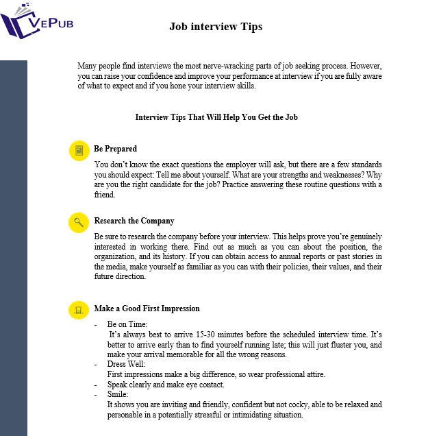 Job Interview Tips For Help