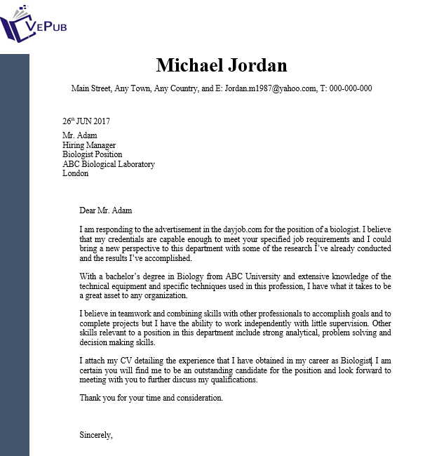 Factory Worker Cover Letter | Business Service | Vepub