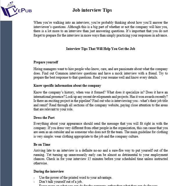 interview tips and technic - The Best Job Interview Tips You Can Get